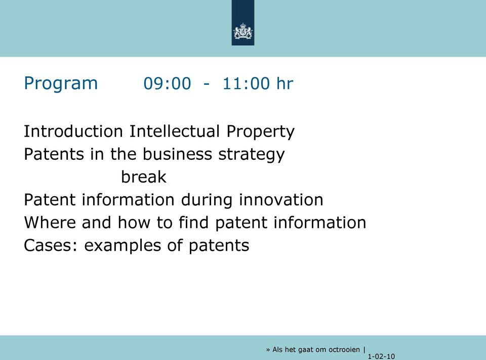 Patent information during innovation Where and how
