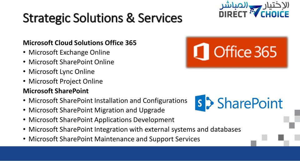 Installation and Configurations Microsoft SharePoint Migration and Upgrade Microsoft SharePoint Applications