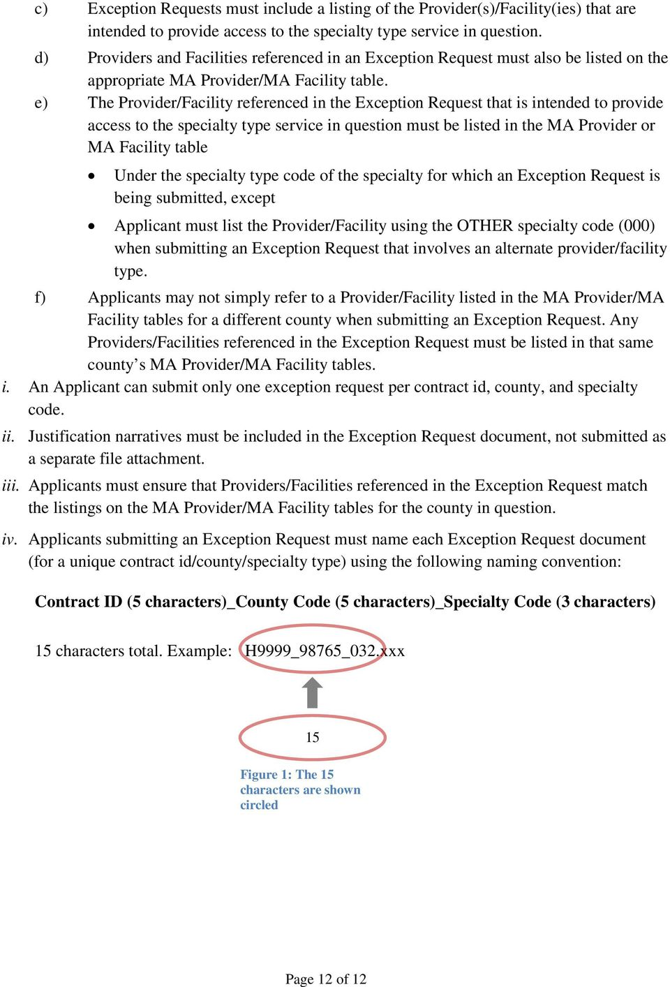 e) The Provider/Facility referenced in the Exception Request that is intended to provide access to the specialty type service in question must be listed in the MA Provider or MA Facility table Under