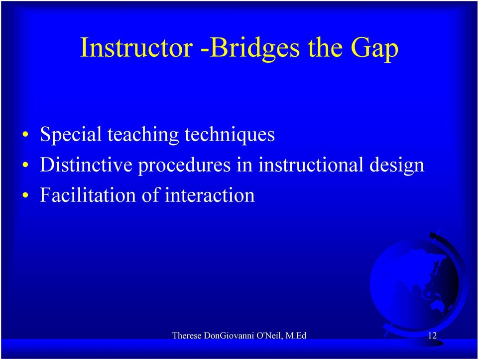 procedures in instructional design