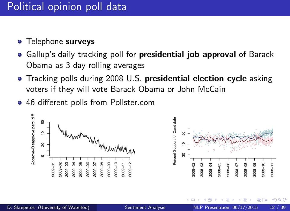 presidential election cycle asking voters if they will vote Barack Obama or John McCain 46