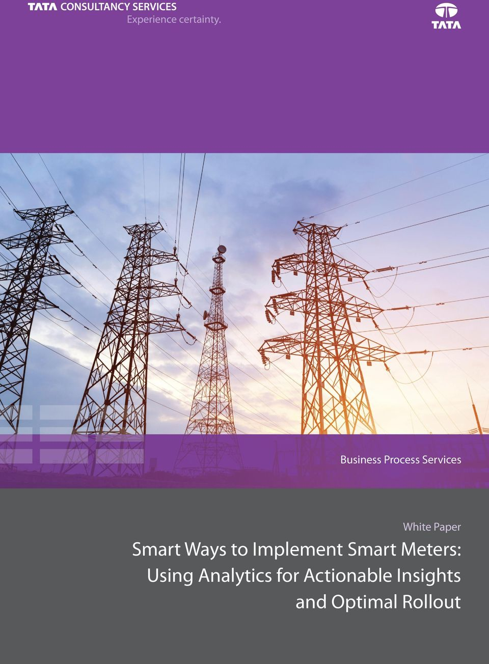 Smart Meters: Usig Aalytics for