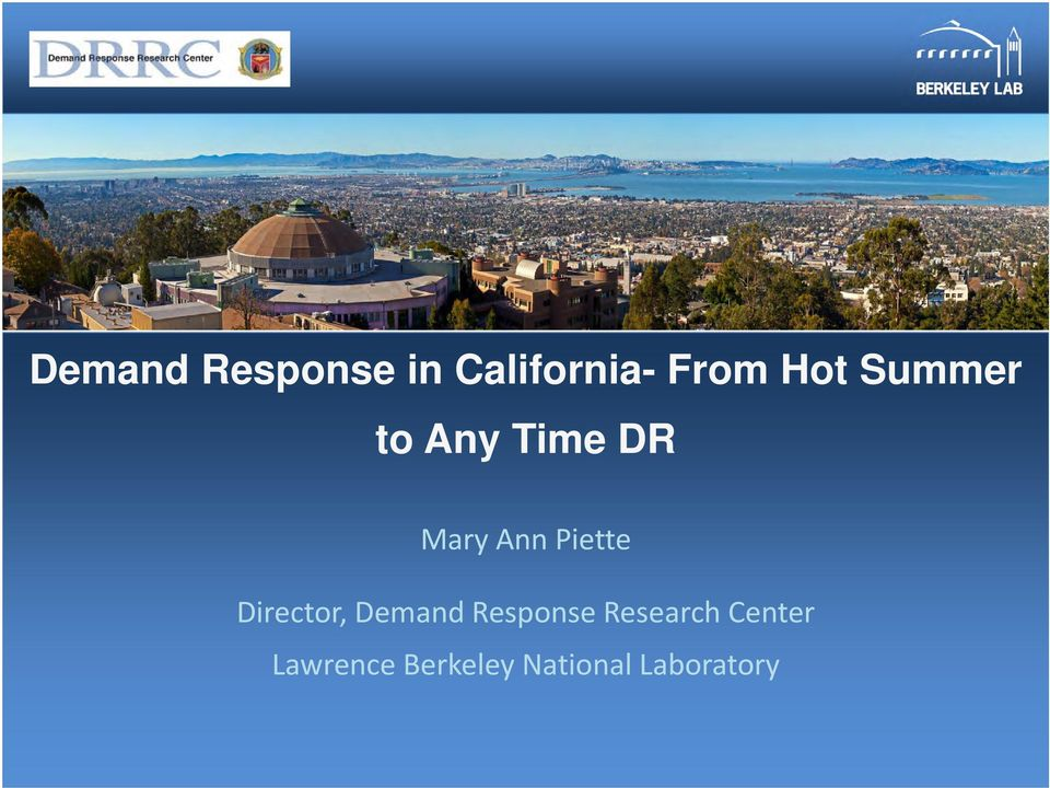 Director, Demand Response Research