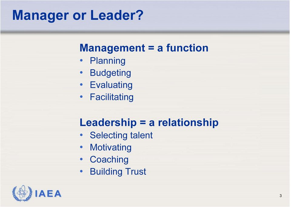 Evaluating Facilitating Leadership = a