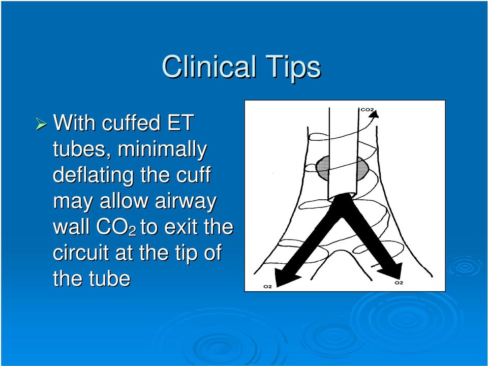 cuff may allow airway wall CO 2