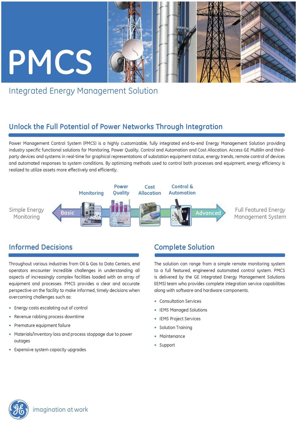 Access GE Multilin and thirdparty devices and systems in real-time for graphical representations of substation equipment status, energy trends, remote control of devices and automated responses to