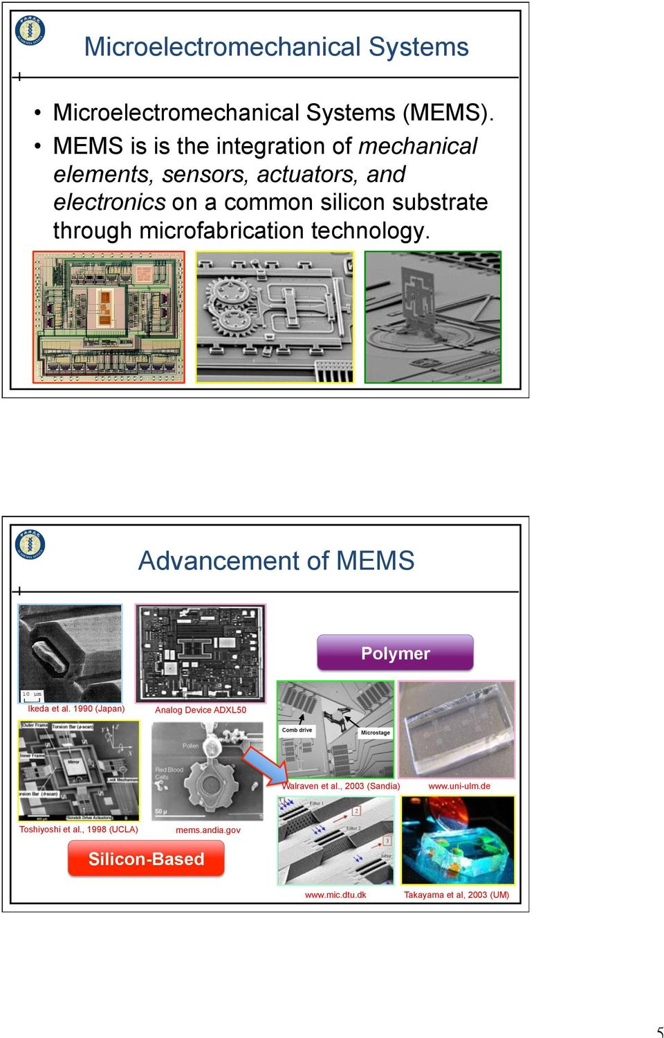 substrate through microfabrication technology. Advancement of MEMS Polymer Ikeda et al.