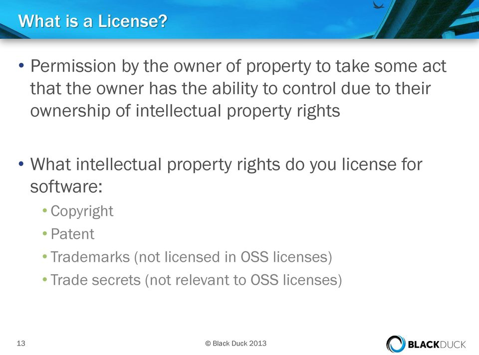 control due to their ownership of intellectual property rights What intellectual