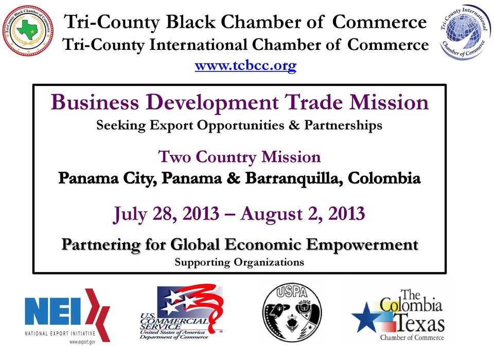org Business Development Trade Mission Seeking Export Opportunities &