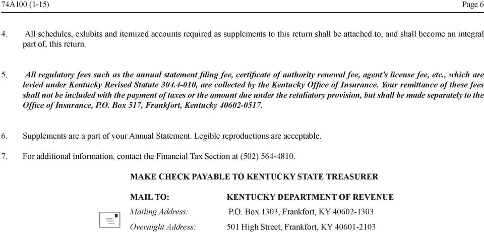 4-010, are collected by the Kentucky Office of Insurance.
