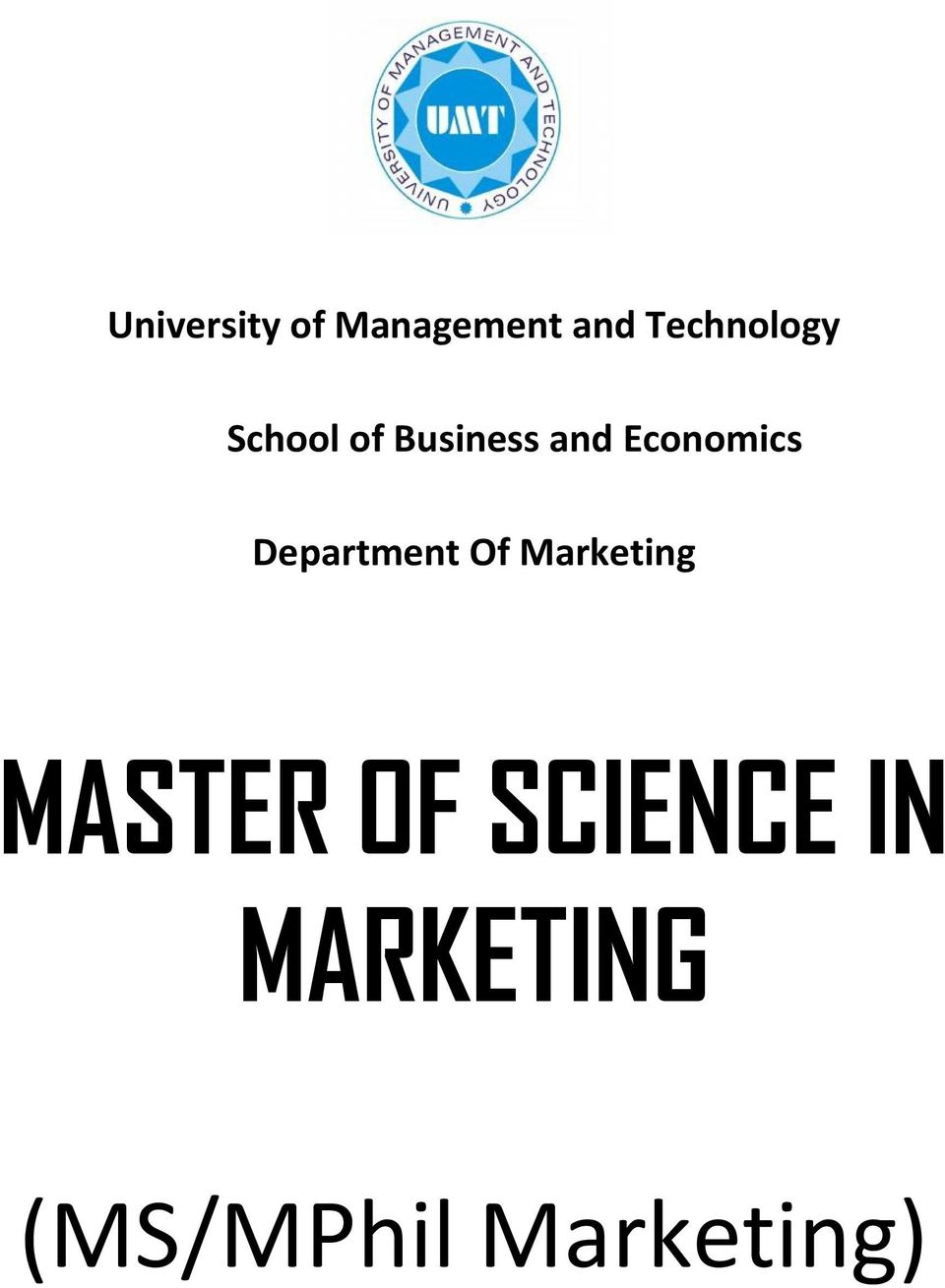 Economics Department Of Marketing