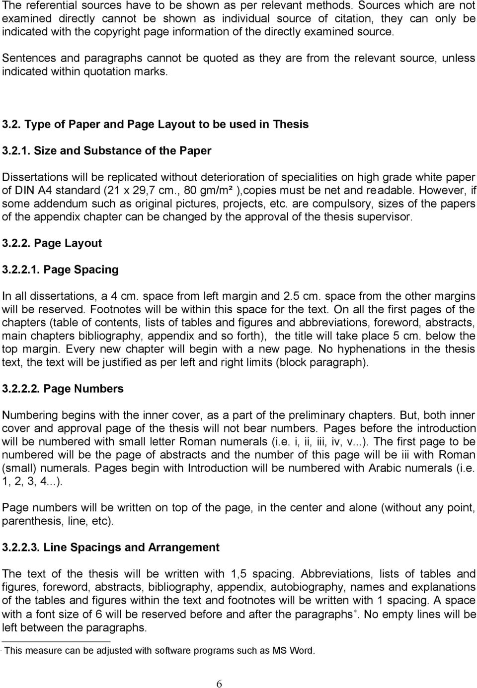 Thesis guidelines near east university