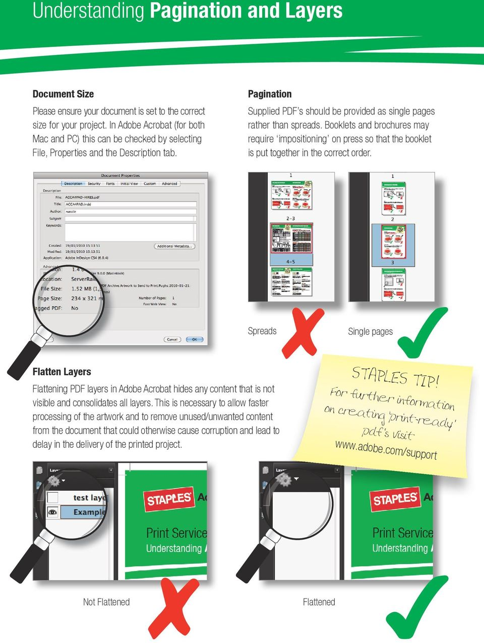 Booklets and brochures may require impositioning on press so that the booklet is put together in the correct order.