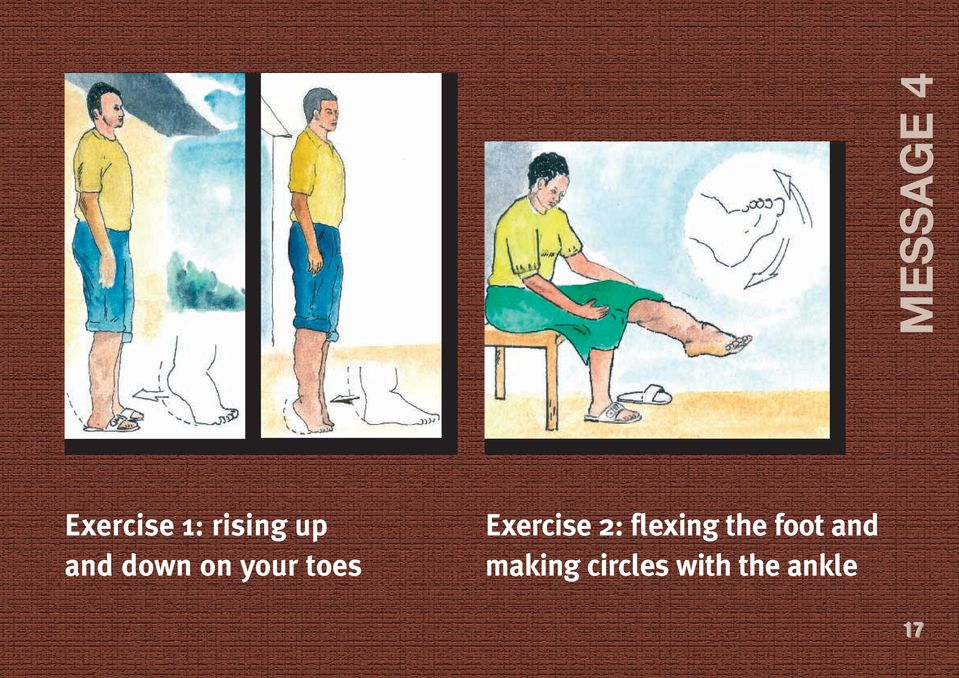 Exercise 2: flexing the foot