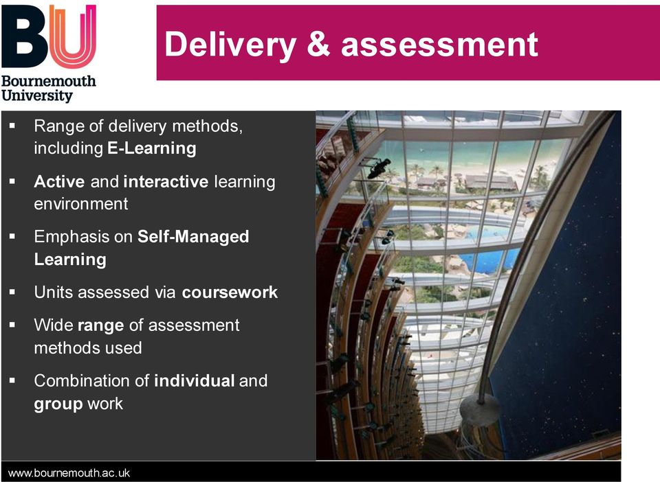 on Self-Managed Learning Units assessed via coursework Wide