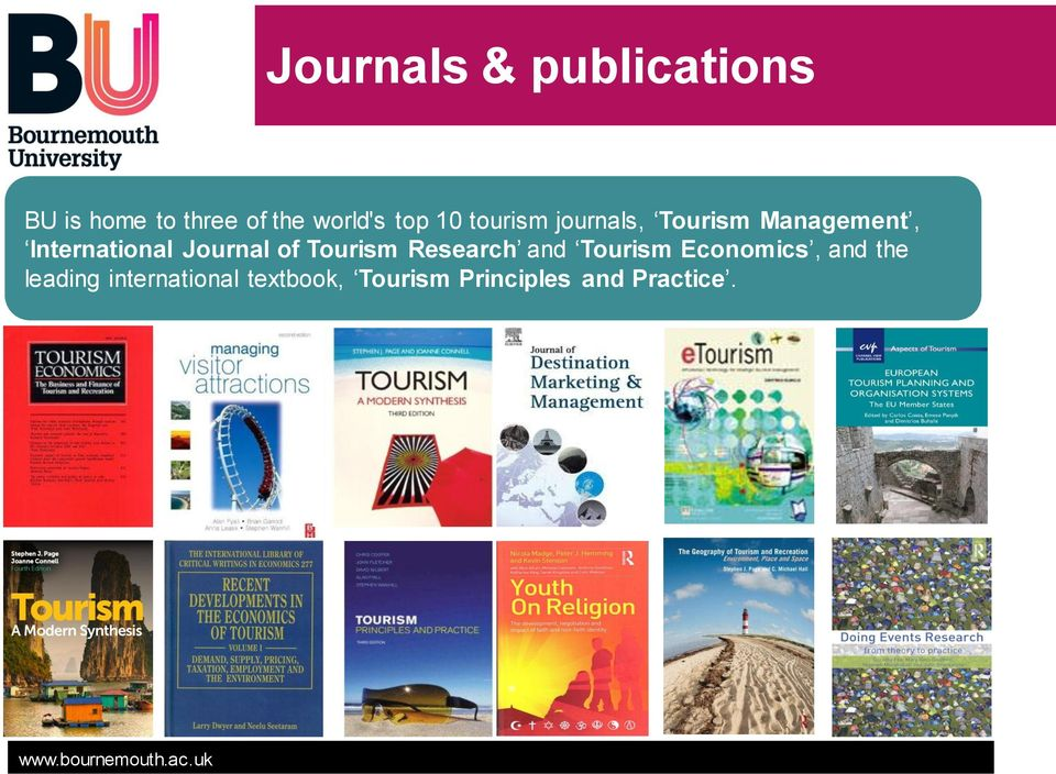 Journal of Tourism Research and Tourism Economics, and the
