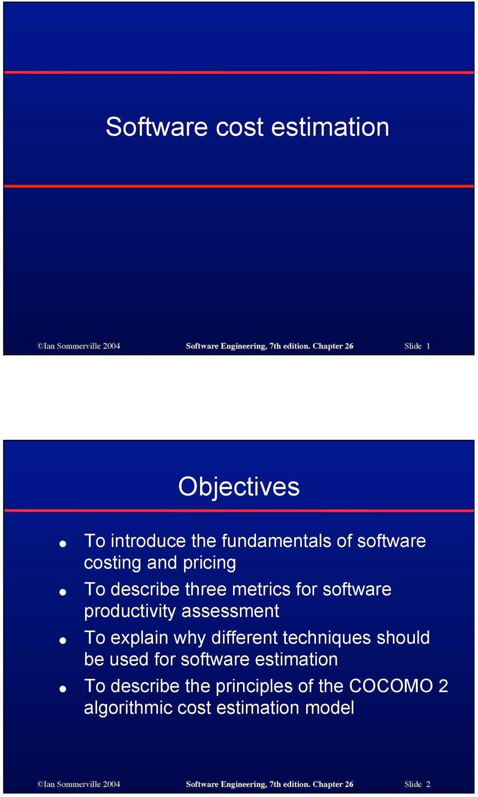 metrics for software productivity assessment To explain why different techniques should be used for software