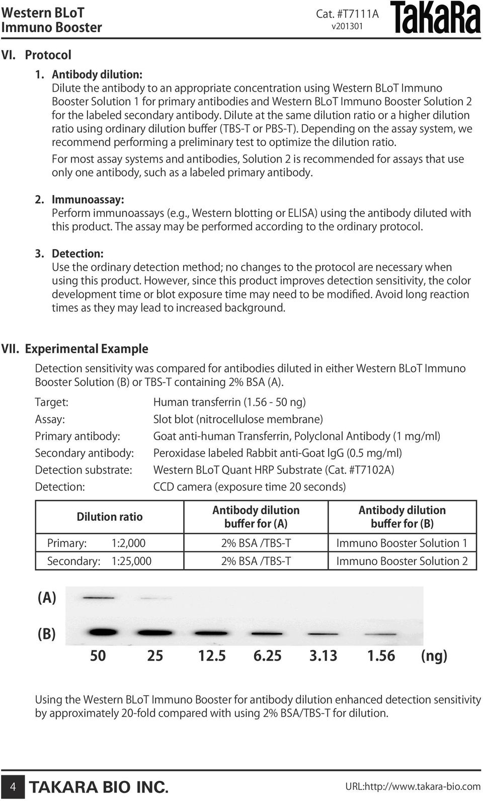 antibody. Dilute at the same dilution ratio or a higher dilution ratio using ordinary dilution buffer (TBS-T or PBS-T).