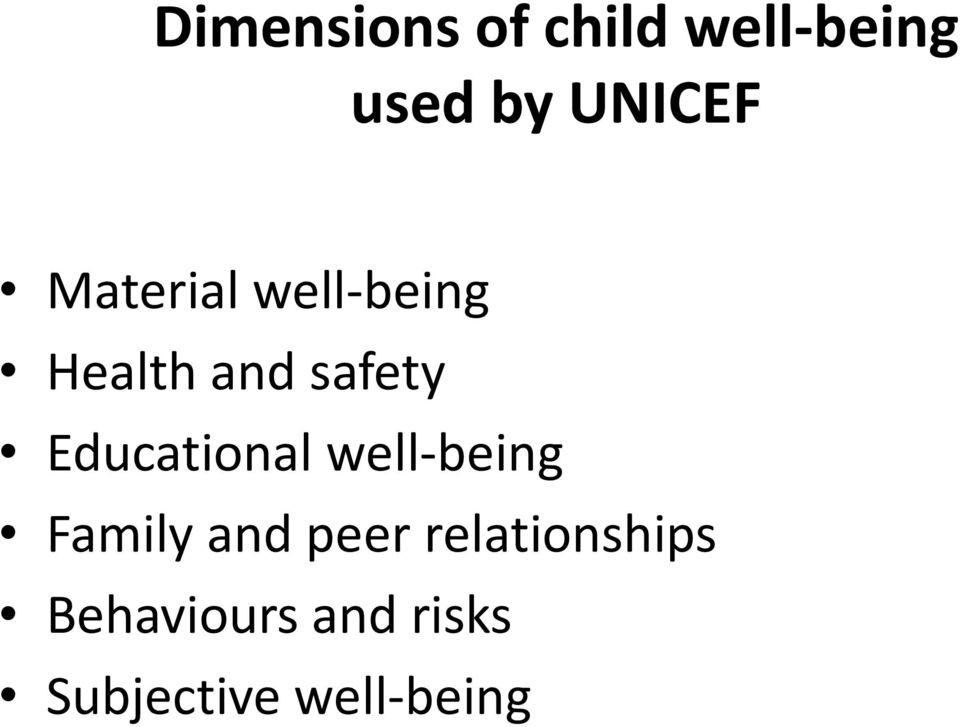 Educational well-being Family and peer
