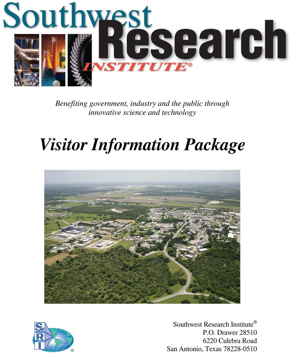 Information Package Southwest Research Institute P.O.