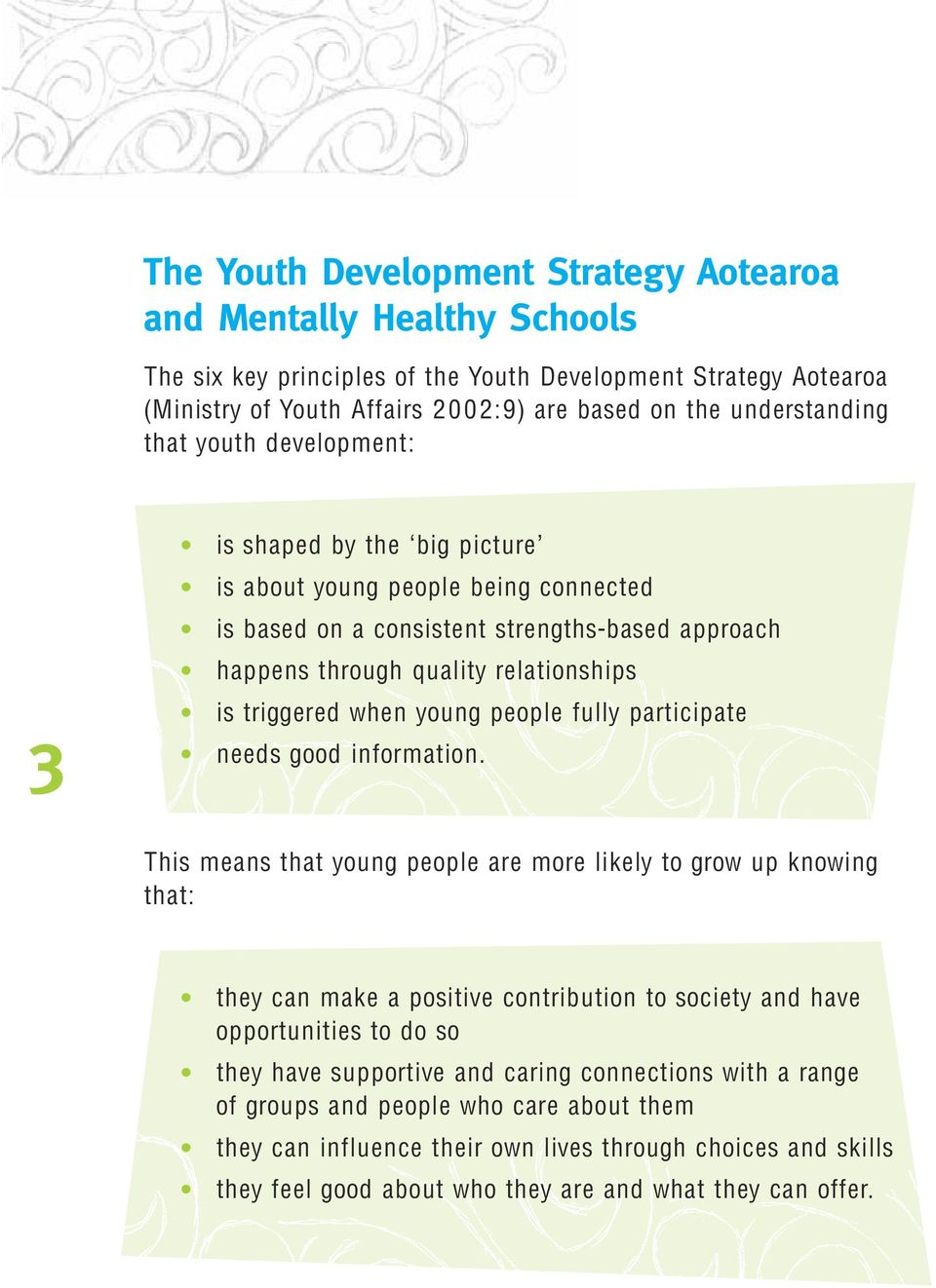 triggered when young people fully participate needs good information.