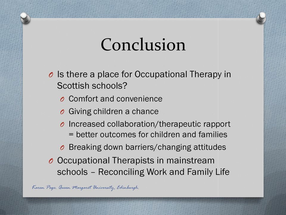 collaboration/therapeutic rapport = better outcomes for children and families