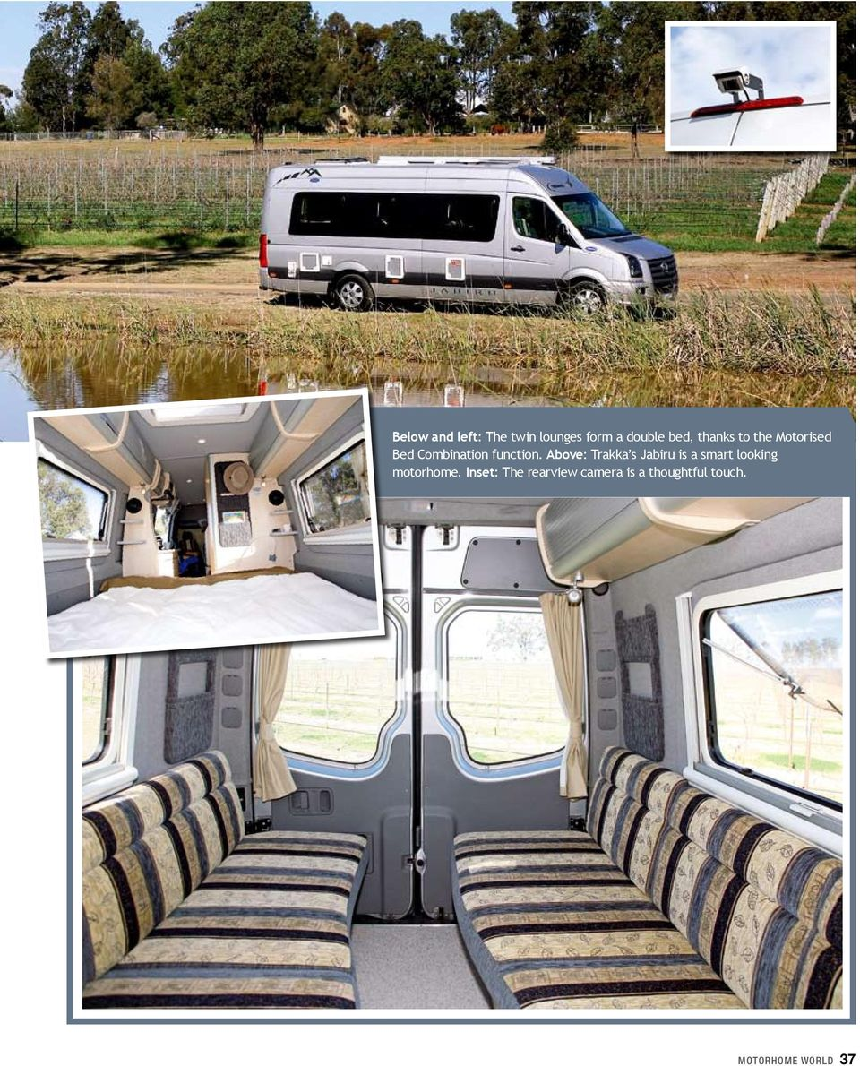 Above: Trakka s Jabiru is a smart looking motorhome.