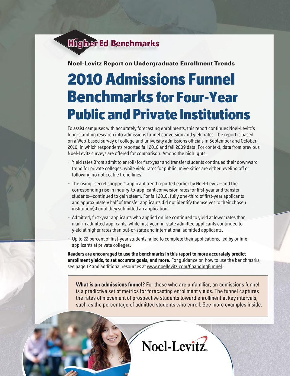 The report is based on a Web-based survey of college and university admissions officials in September and October, 2010, in which respondents reported fall 2010 and fall 2009 data.