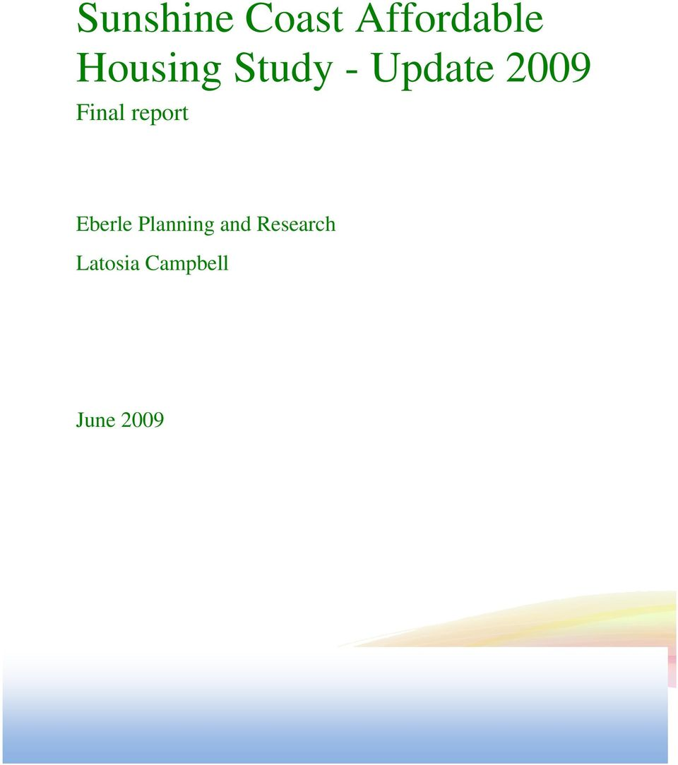 Final report Eberle Planning