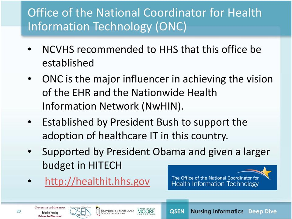Nationwide Health Information Network (NwHIN).