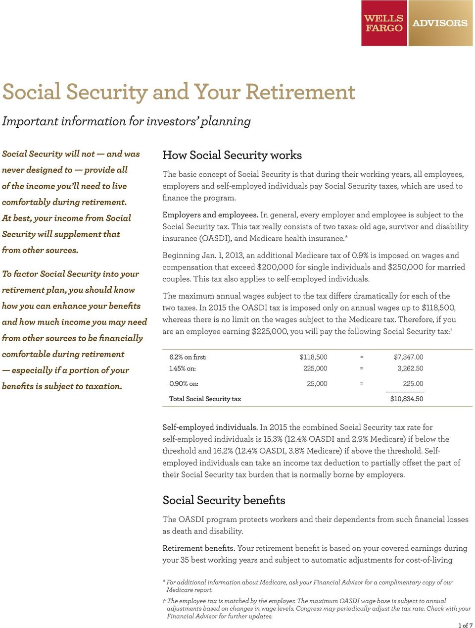 To factor Social Security into your retirement plan, you should know how you can enhance your benefits and how much income you may need from other sources to be financially comfortable during