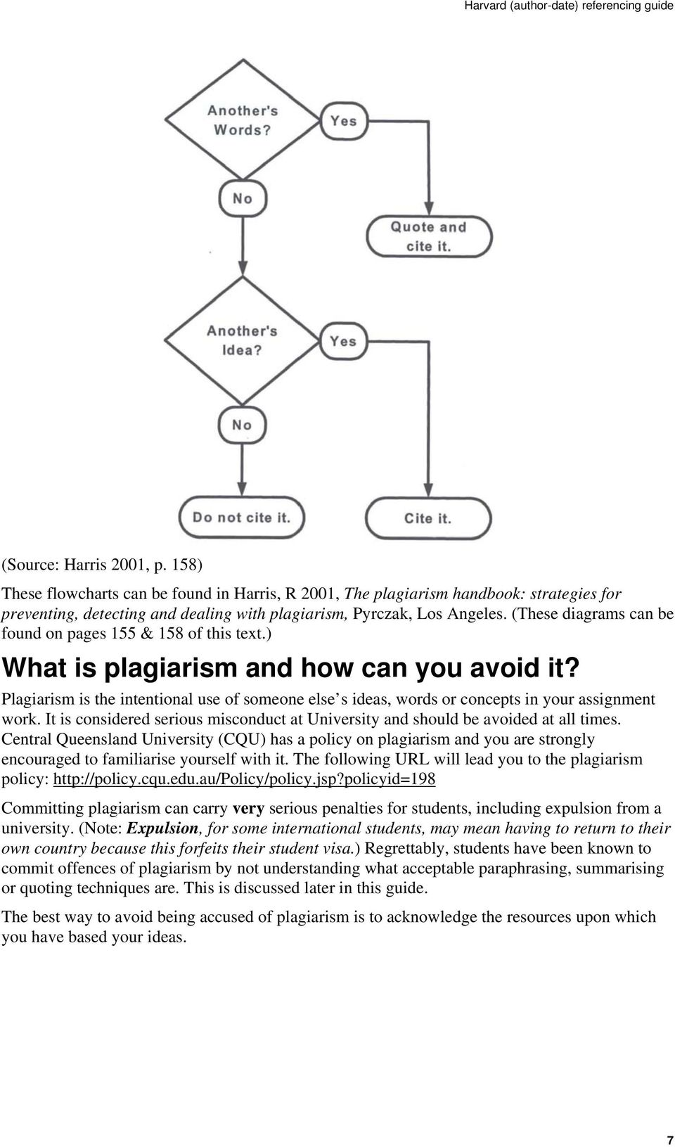(These diagrams can be found on pages 155 & 158 of this text.) What is plagiarism and how can you avoid it?