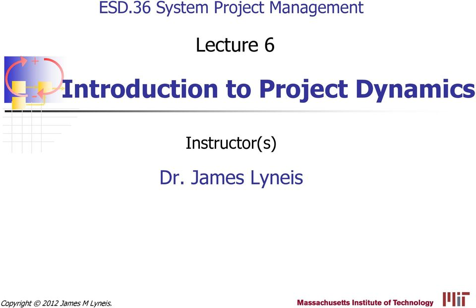 Dynamics Instructor(s) Dr.