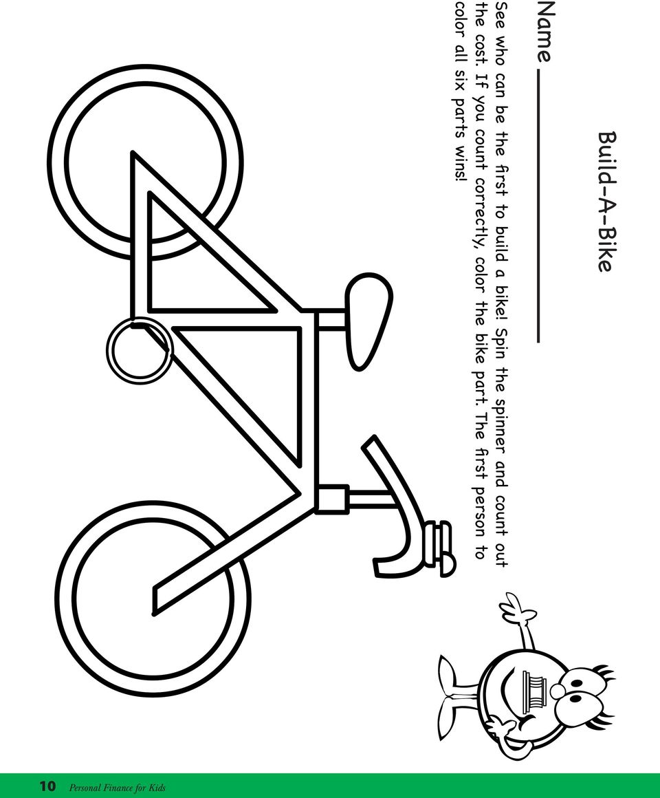 If you count correctly, color the bike part.