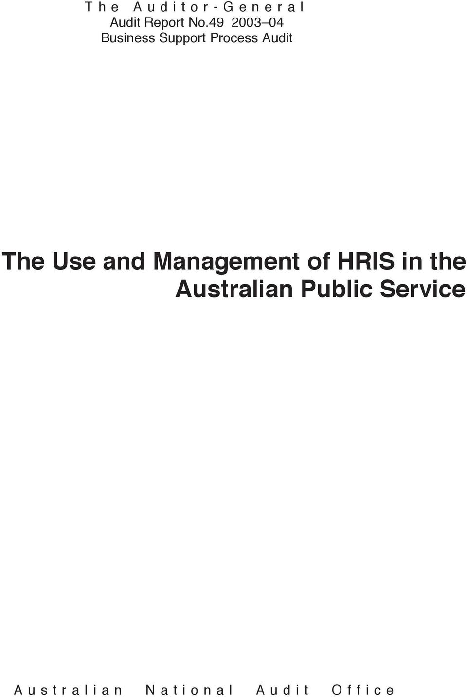 Management of HRIS in the Australian