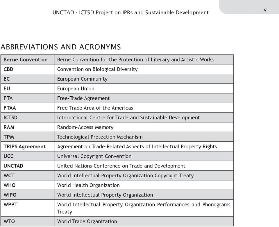 Centre for Trade and Sustainable Development Random-Access Memory Technological Protection Mechanism Agreement on Trade-Related Aspects of Intellectual Property Rights Universal Copyright Convention