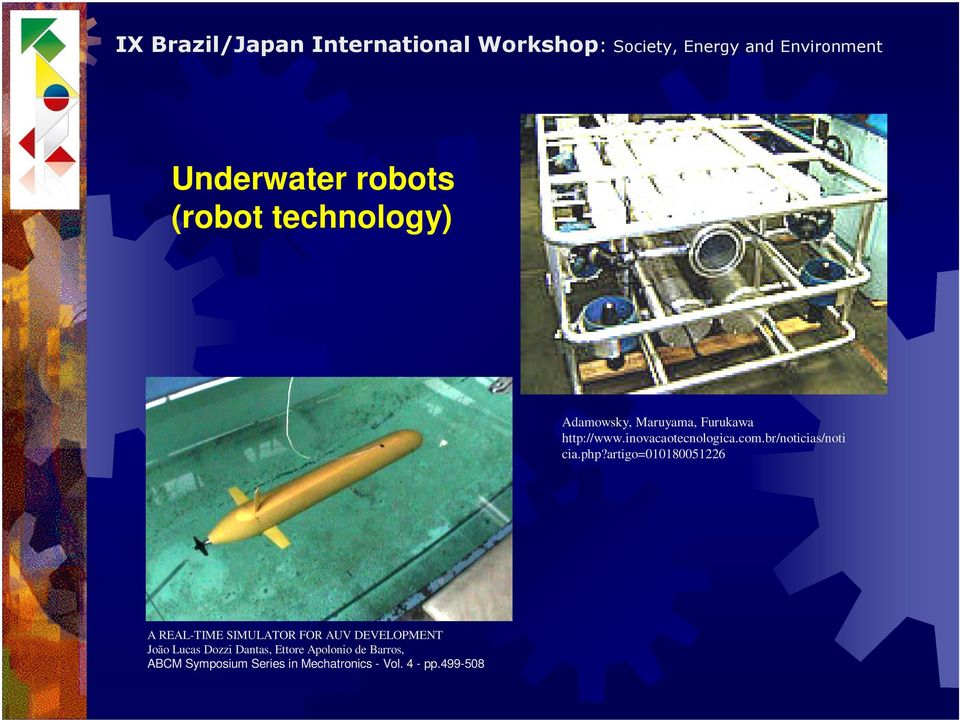artigo=010180051226 A REAL-TIME SIMULATOR FOR AUV DEVELOPMENT João Lucas
