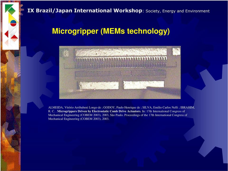 In: 17th International Congress of Mechanical Engineering (COBEM 2003), 2003, São Paulo.