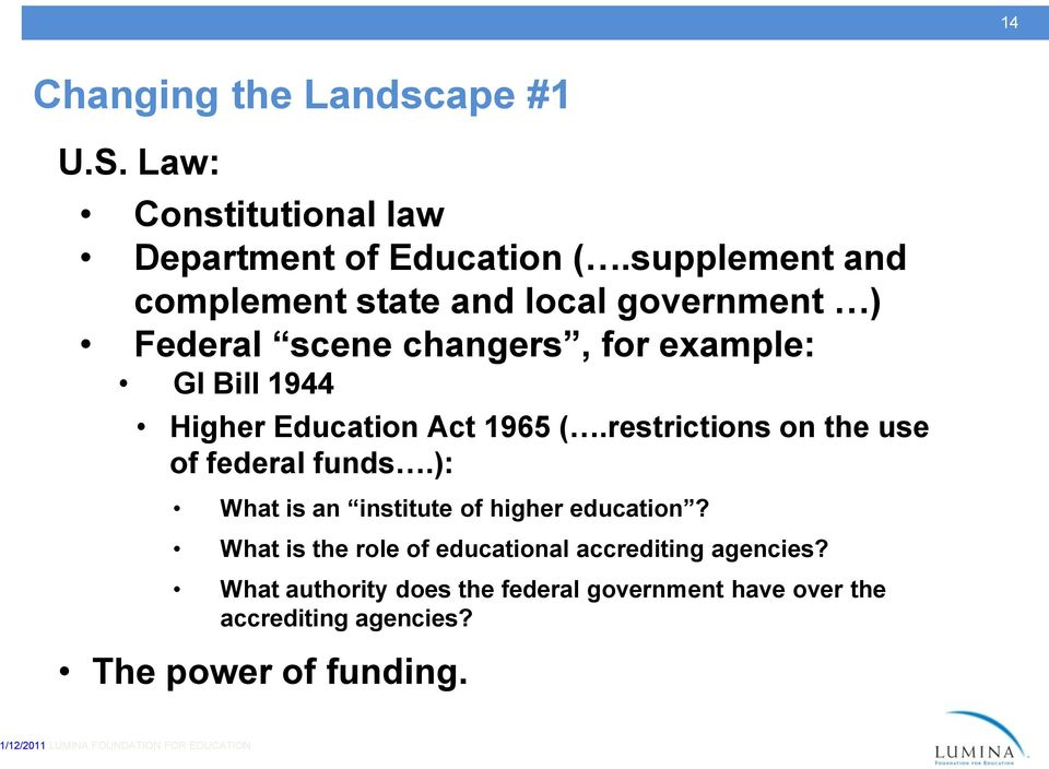 Education Act 1965 (.restrictions on the use of federal funds.): What is an institute of higher education?