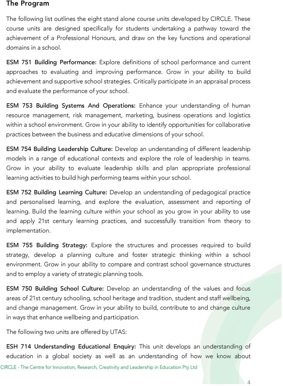 ESM 751 Building Performance: Explore definitions of school performance and current approaches to evaluating and improving performance.