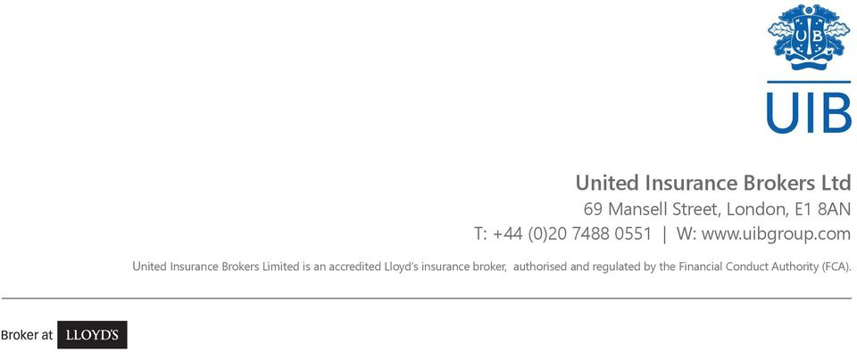 com United Insurance Brokers Limited is an accredited