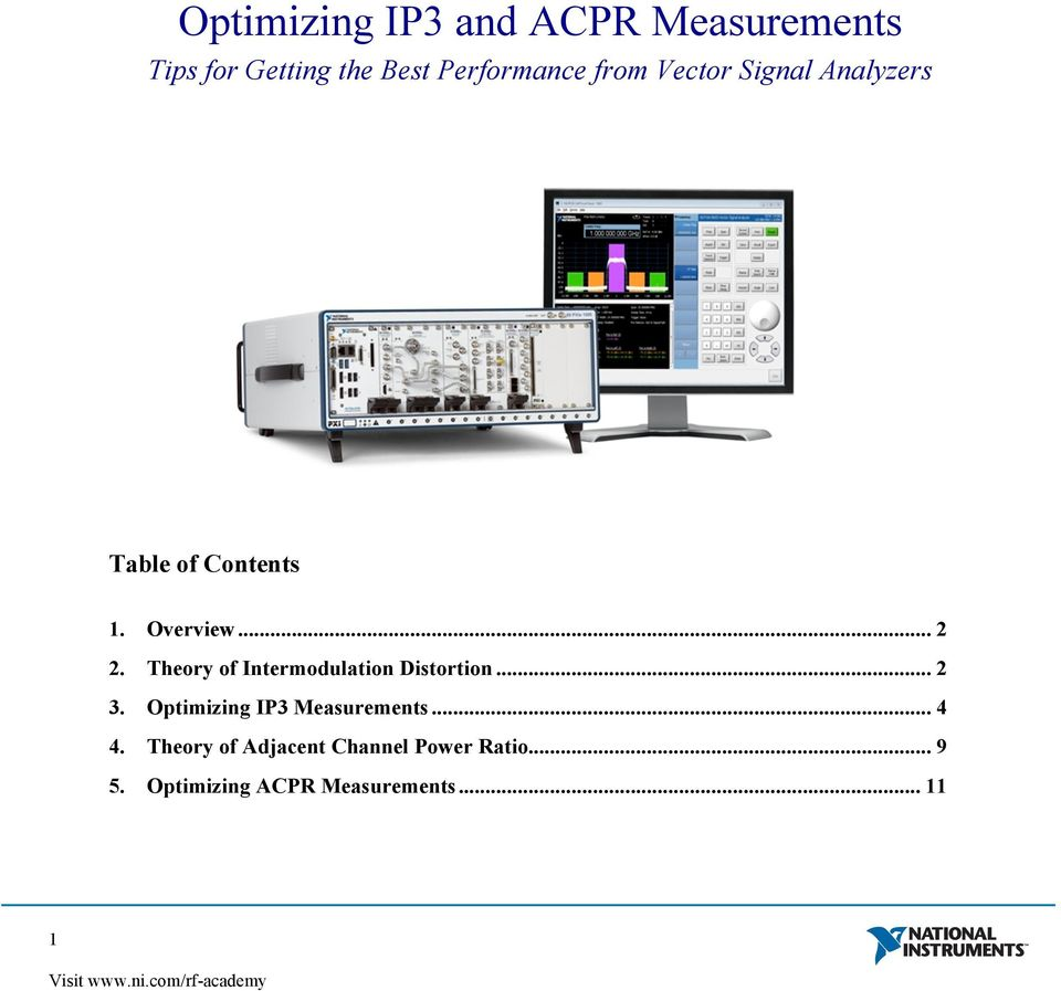 Optimizing IP3 Measurements... 4 4.