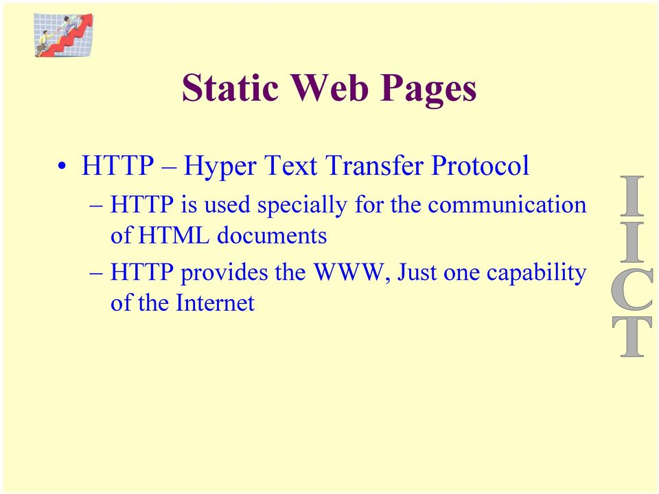 communication of HTML documents HTTP