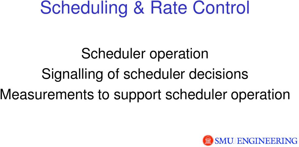 of scheduler decisions