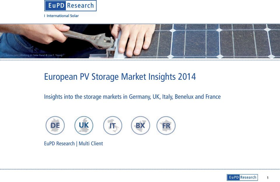 Insights into the storage markets in Germany,