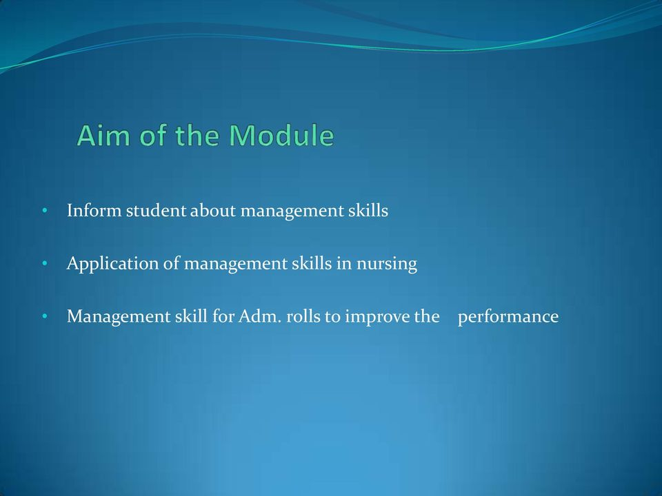 skills in nursing Management skill