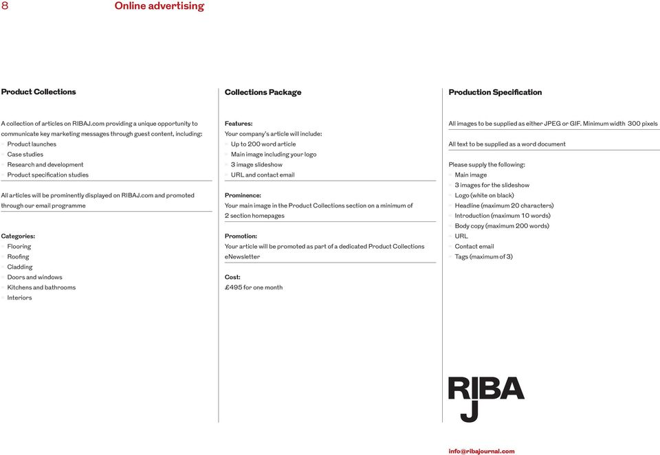 articles will be prominently displayed on RIBAJ.