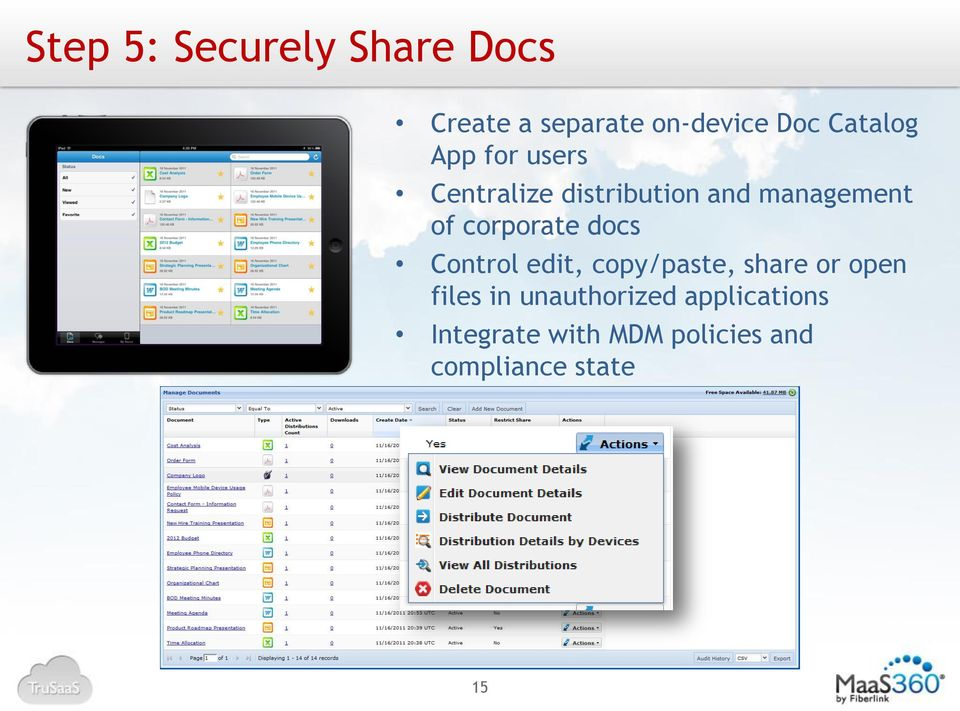 corporate docs Control edit, copy/paste, share or open files in
