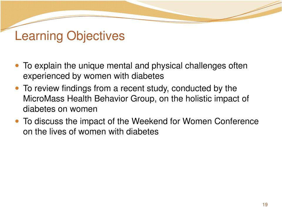 by the MicroMass Health Behavior Group, on the holistic impact of diabetes on women
