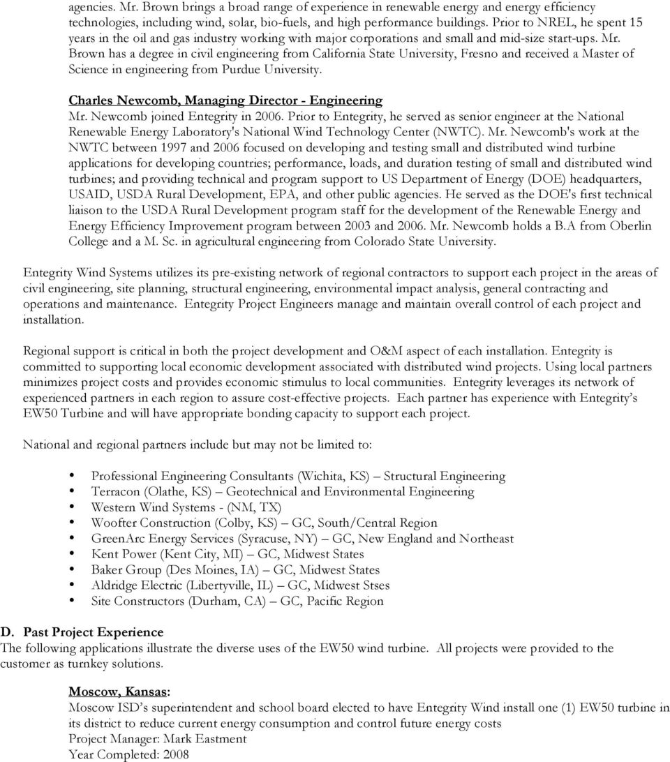 Entegrity Wind Systems State of Qualifications - PDF